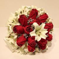 دسته گل عروس کد 1007
